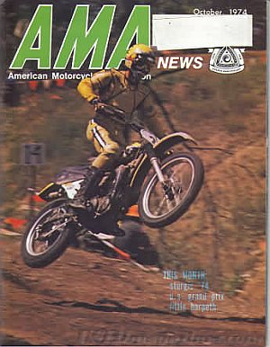 American Motorcycle Association News October 1974