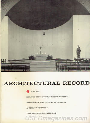 Architectural Record June 1962