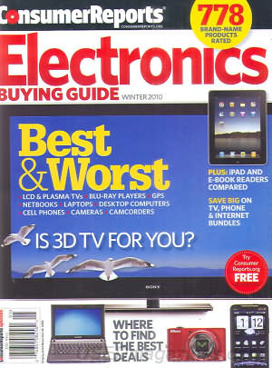 Consumer Reports Electronics Buying Guide Winter 2010