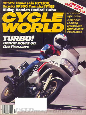 Cycle World October 1981