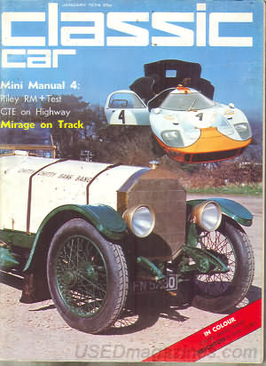 Thoroughbred & Classic Cars January 1974