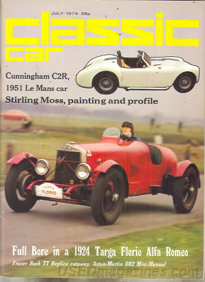 Thoroughbred & Classic Cars July 1974
