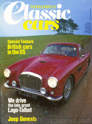 Thoroughbred & Classic Cars March 1984