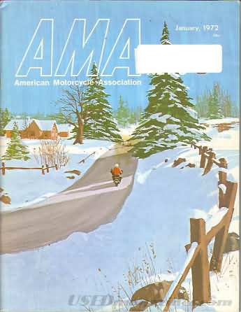 American Motorcycle Association News January 1972