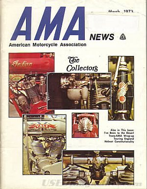 American Motorcycle Association News March 1973