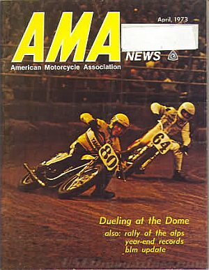 American Motorcycle Association News April 1973