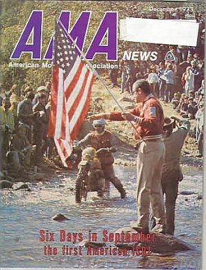 American Motorcycle Association News December 1973