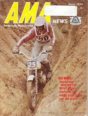 American Motorcycle Association News March 1974