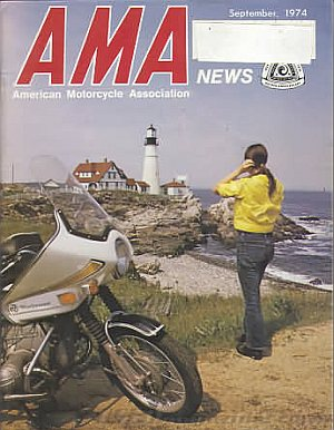 American Motorcycle Association News September 1974