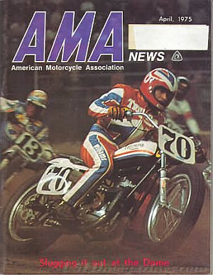 American Motorcycle Association News April 1975