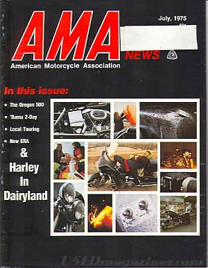 American Motorcycle Association News July 1975