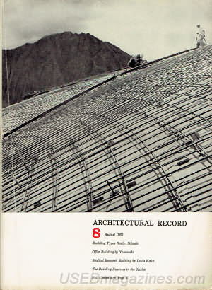 Architectural Record August 1960