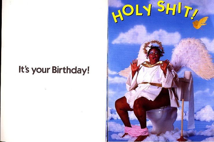 Holy Sh*t Birthday Card