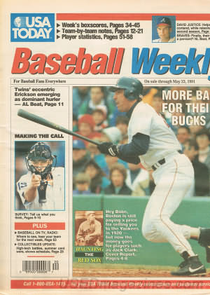 Baseball Weekly (USA Today) May 17, 1991