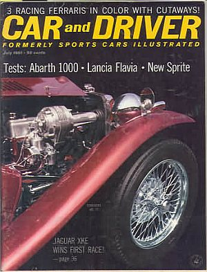 Car and Driver July 1961 (formerly called Sports Car Illustrated)