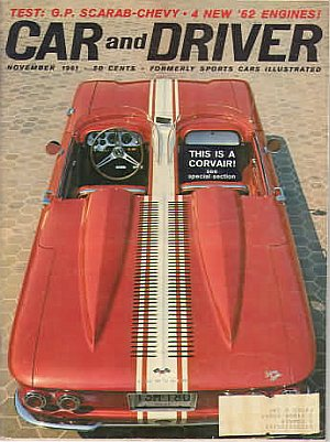 Car and Driver November 1961 (formerly called Sports Car Illustrated)