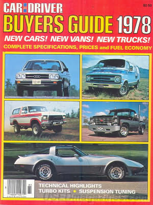 Car and Driver Buyer's Guide 1978