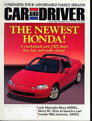 Car and Driver June 1992