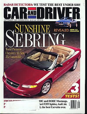 Car and Driver September 1995