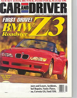 Car and Driver January 1996