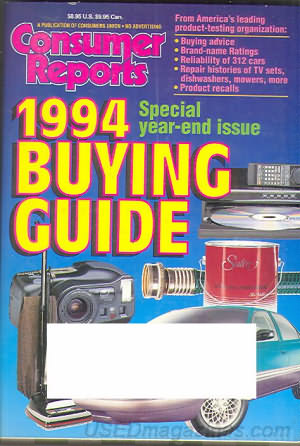 Consumer Reports Annual Buyers Guide 1994