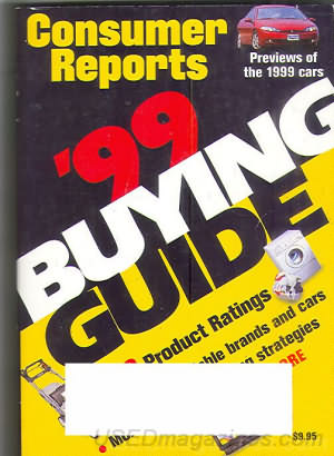 Consumer Reports Annual Buyers Guide 1999