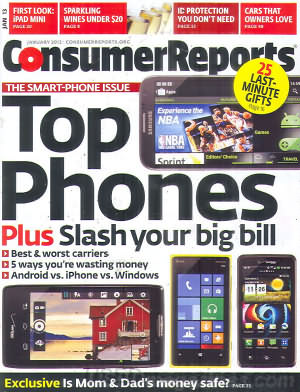 Consumer Reports January 2013