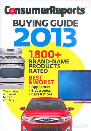 Consumer Reports Annual Buyers Guide 2013