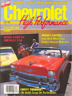 Chevrolet High Performance Fall 1986