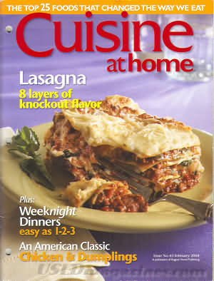 Cuisine at home February 2004