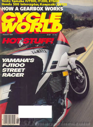 Cycle World August 1984