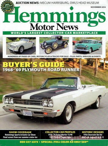 Hemmings Motor News November 2014