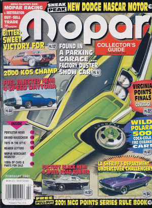 Mopar Collector's Guide February 2001