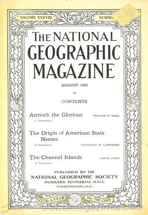 National Geographic August 1920