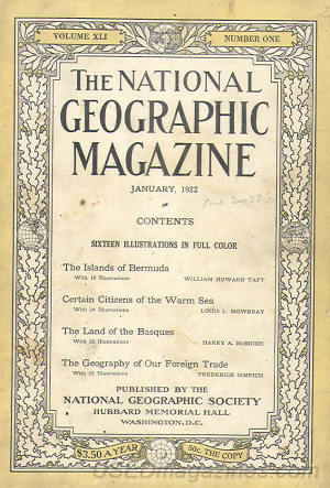 National Geographic January 1922