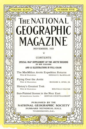 National Geographic November 1925