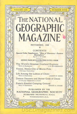 National Geographic November 1928