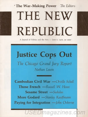The New Republic June 06, 1970