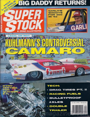 Super Stock & Dragster Illustrated April 1992