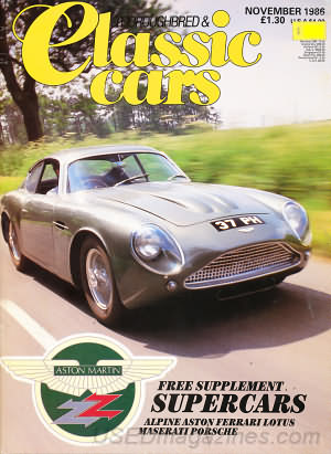 Thoroughbred & Classic Cars November 1986