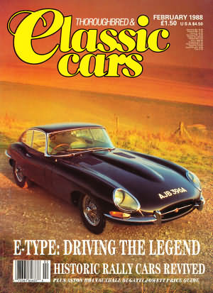 Thoroughbred & Classic Cars February 1988