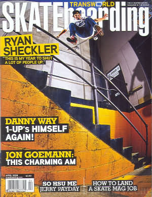 Transworld Skateboarding April 2008
