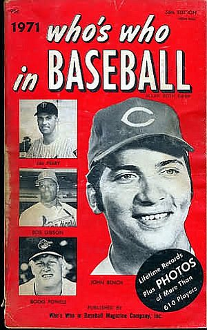 Who's Who in Baseball 1971